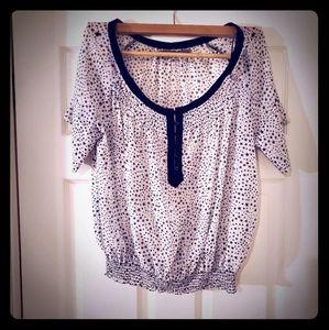 Zara Black & White Starry Blouse